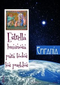 Cartel MD: Epifanía Estrella luminosa para todos los pueblos.